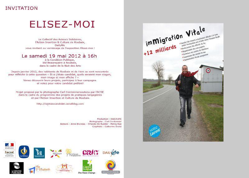 INVITATION ELISEZ MOI ROUBAIX