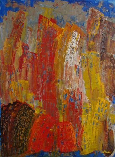 le tableau bleu (73 cm x 60 cm ; 2006)