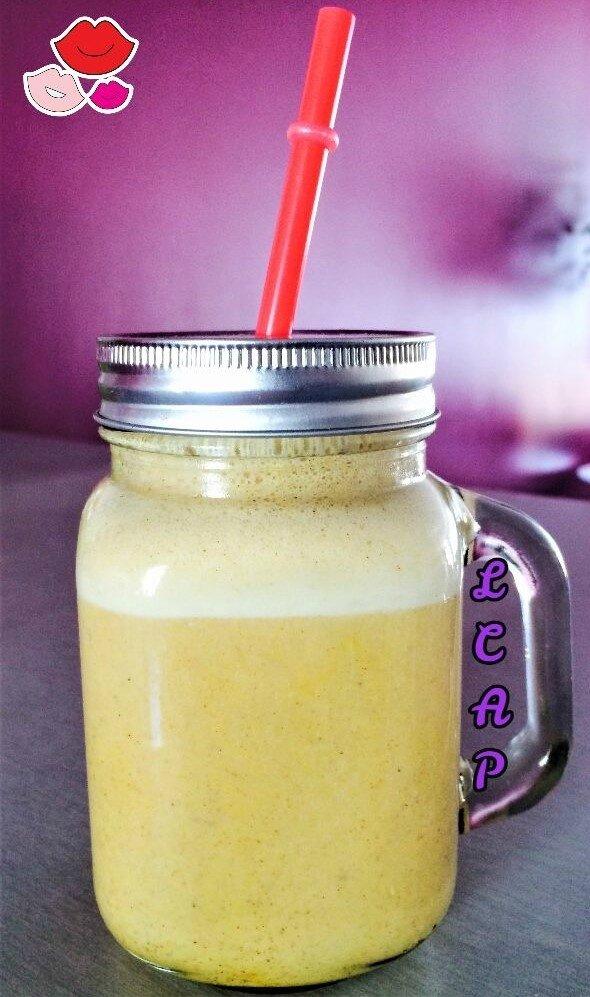 la cuisine danna purple- smoothie banane miel et pollen 1