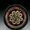 A rare largesancai-glazed 'goose' tripod dish, Tang dynasty (618-907)