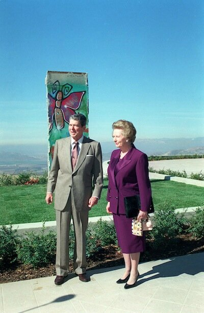 Reagan - Thatcher mur Berlin