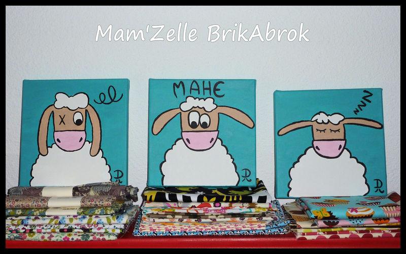 Triptyque Léon le mouton pour Mahé - Commande