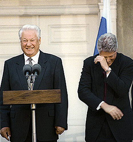 1996-Boris Eltsine et Bill Clinton