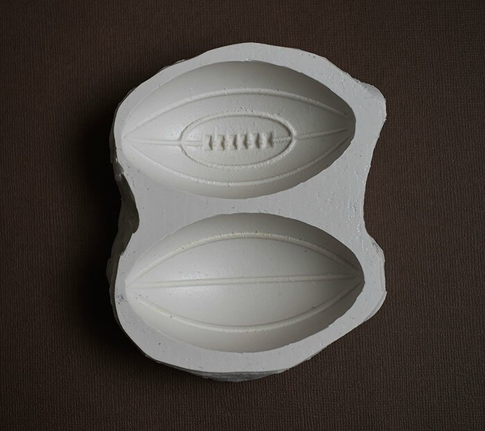 moule silicone gros ballon rugby 2 faces