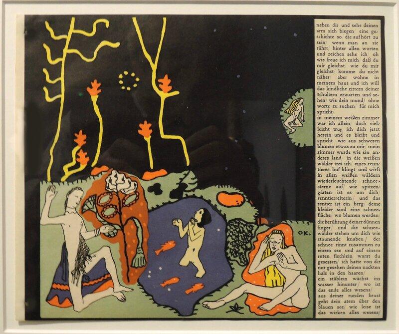 kokoschka-oskar_garcons-reveurs-reveil_1908_litho-coloriees_Lentos-KunstMus-pinaco