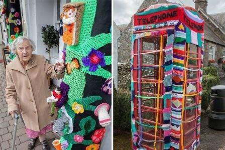 001 femme de 104 ans street art en tricot 3