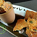 crackers aux graines de courges
