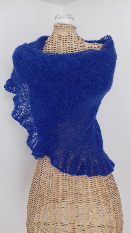 châle bleu (4)