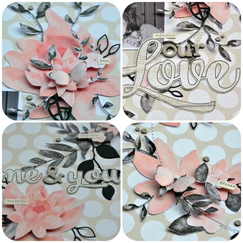 Challenge S216-couronne fleurs-collage-scrapathome