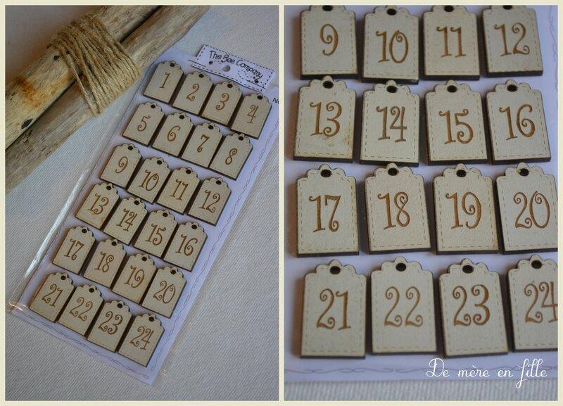 calendrier de l'avent ivoire NO7