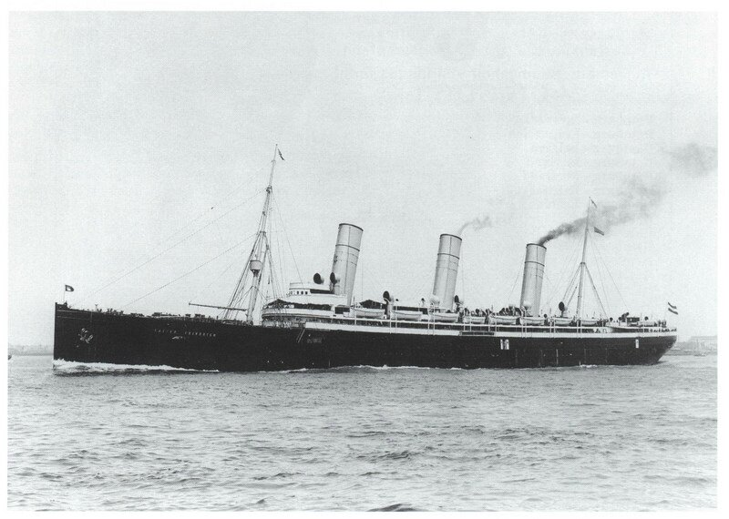 Kaiser Friedrich under Hapag colors.