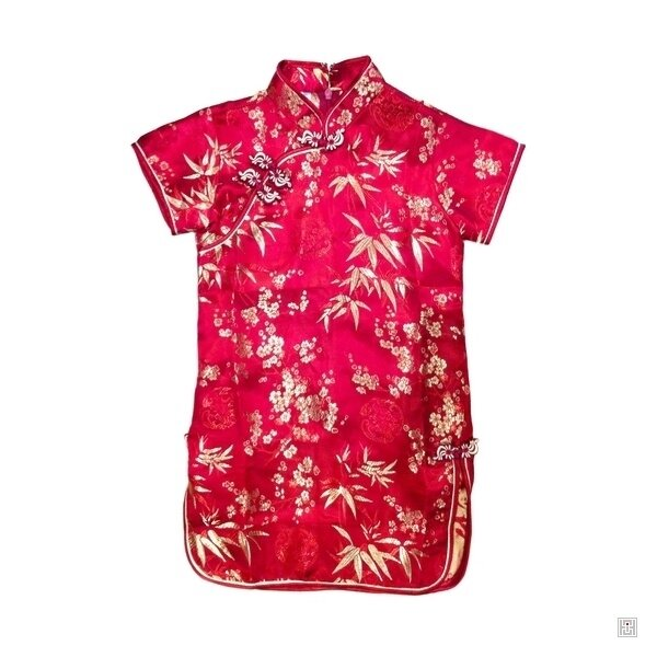 robe-chinoise-enfant-bordeaux-motif-3-amis-or