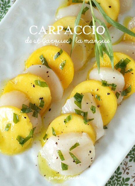 carpaccio de st-jacques à la mangue