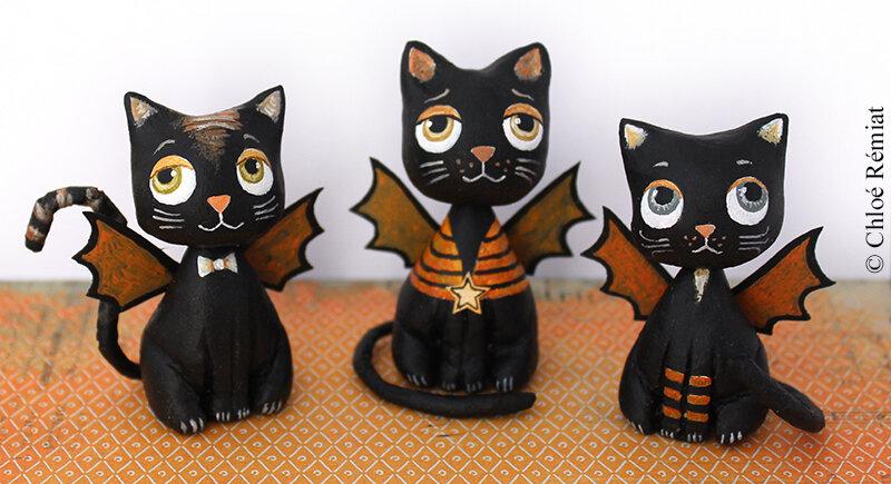 3 minis chats ailés 10 sept 2019