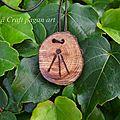 Yew Druid pendant