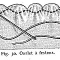 ourlet feston