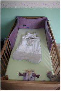 le lit avec les doudous