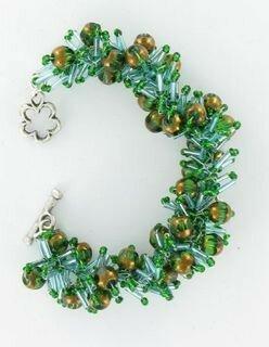 bracelet vert crochet-9