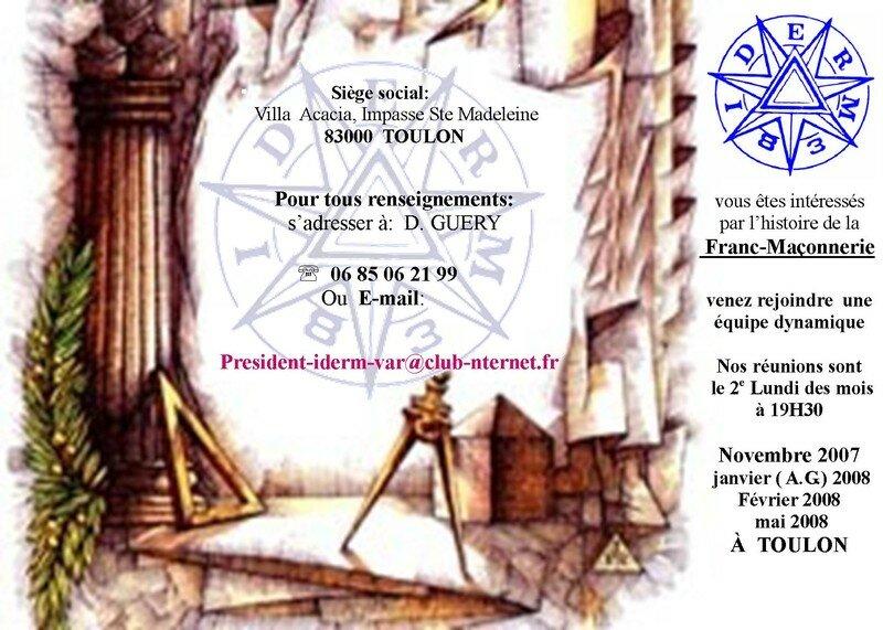 Affiche IDERM 2007-2008