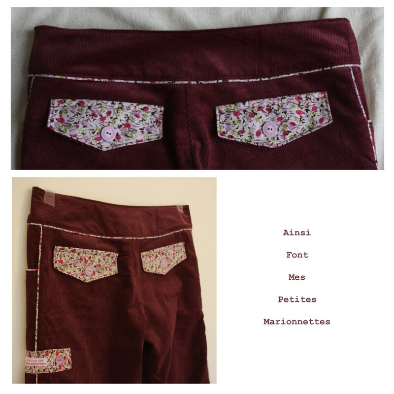 pantalon rose passepoil 5
