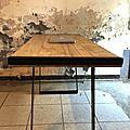 bureau bois métal 4