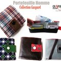 Portefeuille homme originale : nouvelle collection artisanale chic et décalée - pop, vintage, carreaux, cuir... made in france