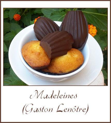 Madeleines avec ou sans chocolat (Gaston Lenôtre