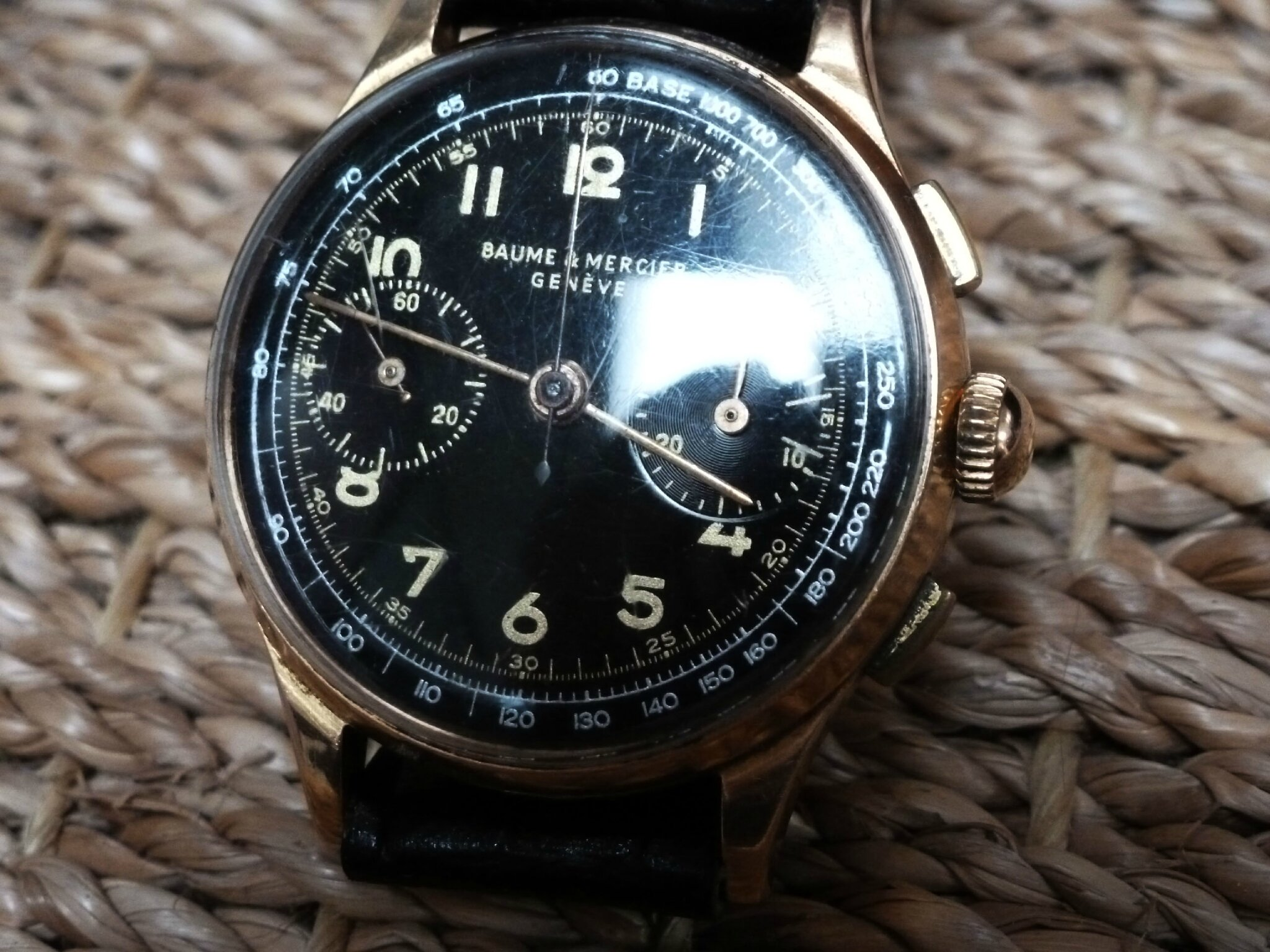 baume mercier chronographe or
