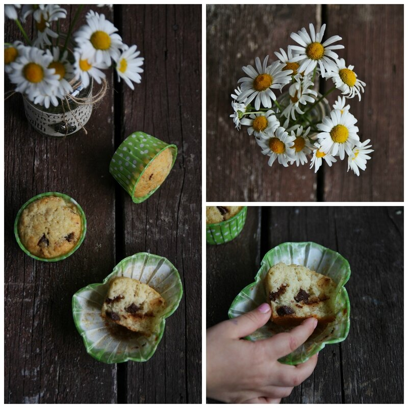 Muffin banana Collage
