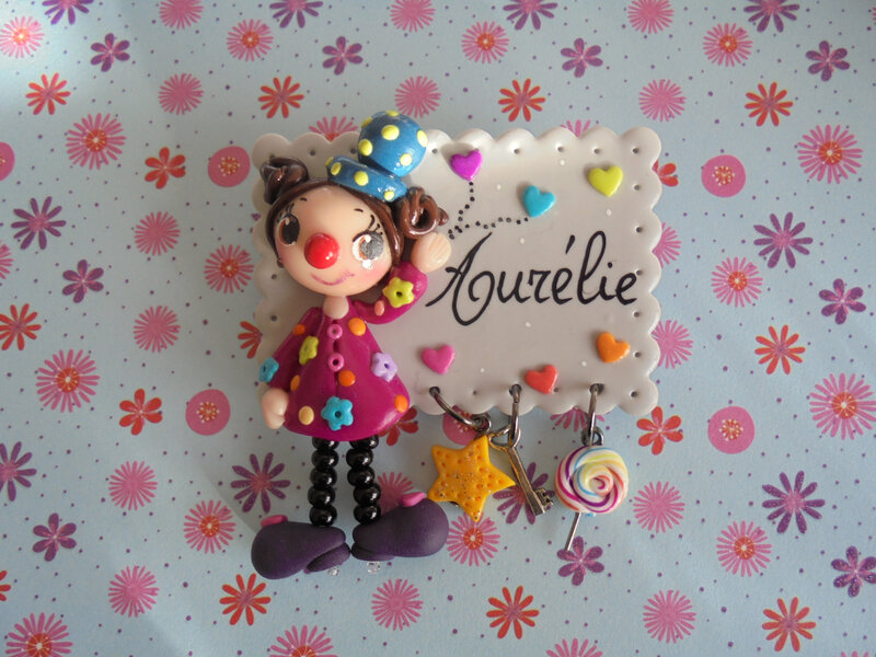 badge clown aurélie