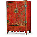A rare and large qiangjin and tianqi decorated 'dragon' lacquer cabinet, qing dynasty, kangxi period (1662-1722)