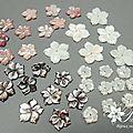 Fleurs en nacre pour bijoux de mariage précieux en argent
