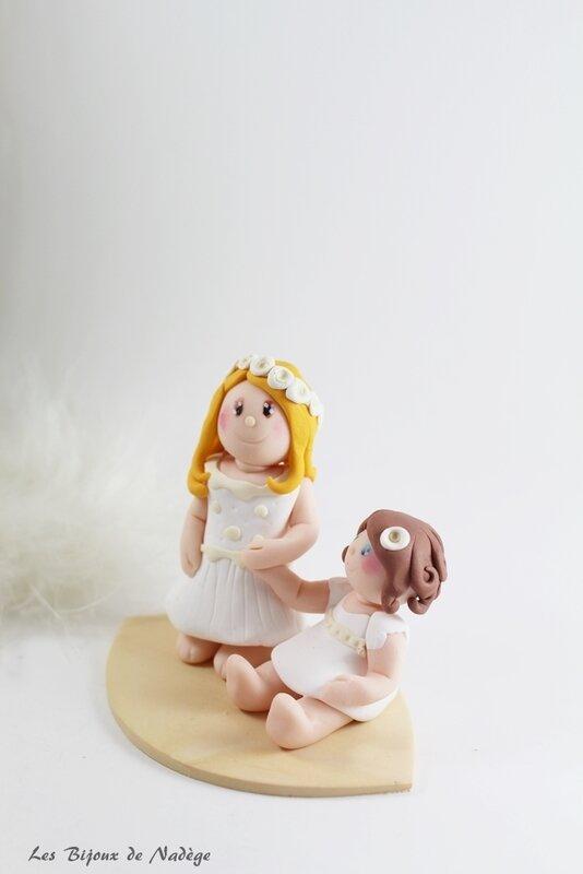 figurine baptême soeurs 2