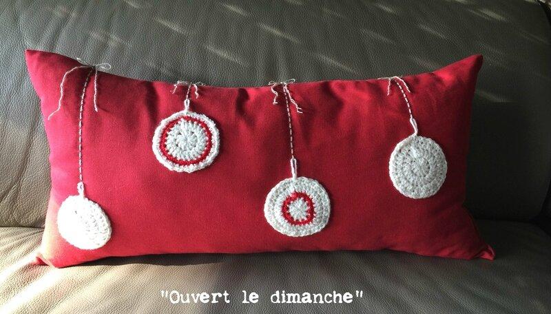 Coussin Boules crochet 1