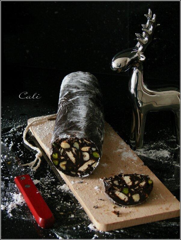 Saucisson au Chocolat (Noisettes, Pistaches & Biscuits) 003