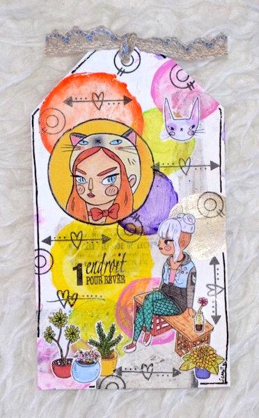 Tag d'anniversaire de Clothilde - Bulles de Tags Mai 2018 du Potager Créatif