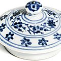 A blue and white jar cover, Ming dynasty, Yongle period (1403-1424)