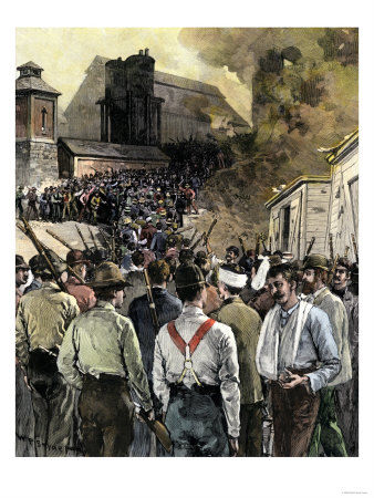 BUSN2A_00069_Pinkerton_Men_Leaving_Carnegie_Steel_Works_during_the_Homestead_Riot_c_1892_Posters