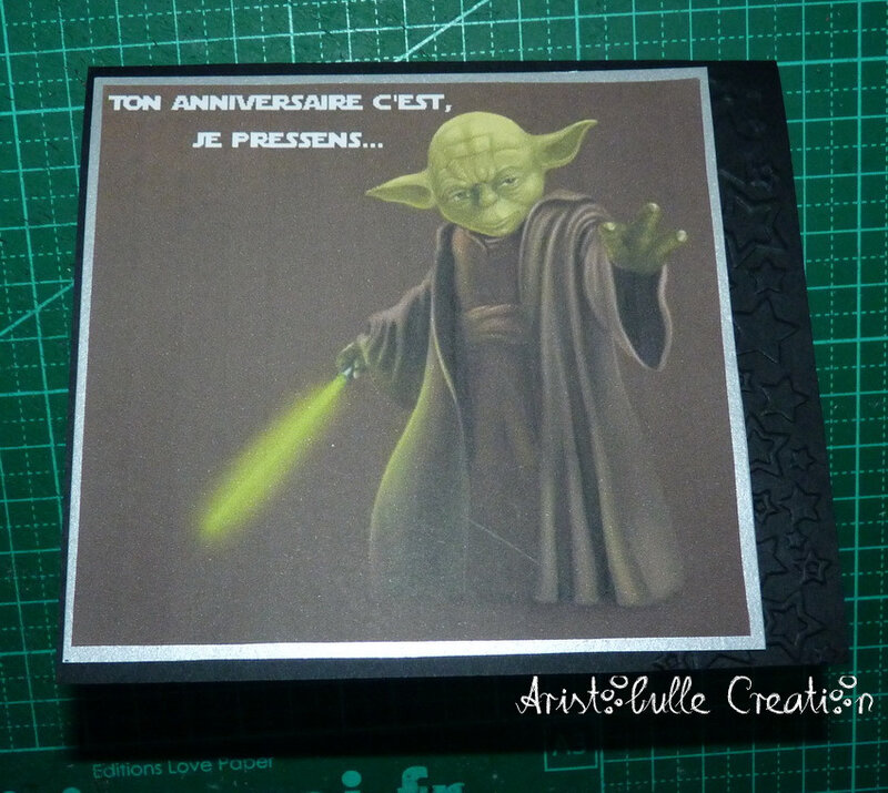 Carte anniversaire Star Wars - carte