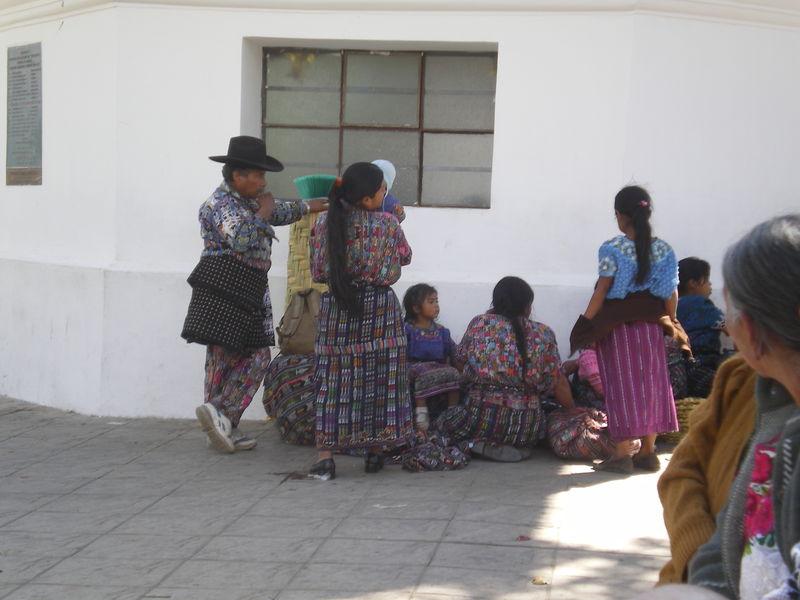 indiens au marché de Solola