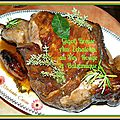 Gigot braise aux echalotes, vin rouge et balsamique