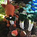 Culture de poireaux au crochet dans le jardin de léon
