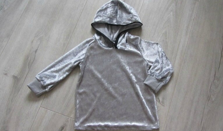 sweat velour gris