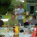 Max., Stéphane, Laurent et Léna, Eve et Franck