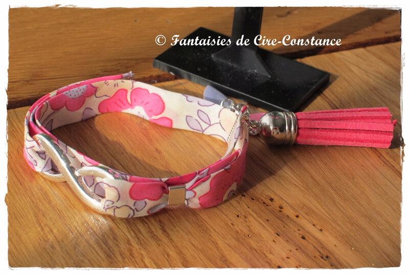 Parure Bo nacres bracelet Infini Betsy grenadine-2
