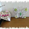 Coeur et papillon customisés