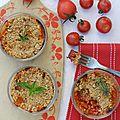 Le crumble tomates et oignons