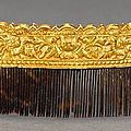 A jin-style chased gold comb. late ming dynasty
