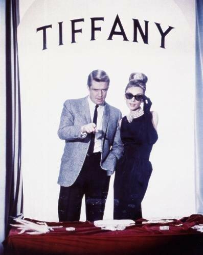 Audrey et George Peppard devant la vitrine de Tiffany's