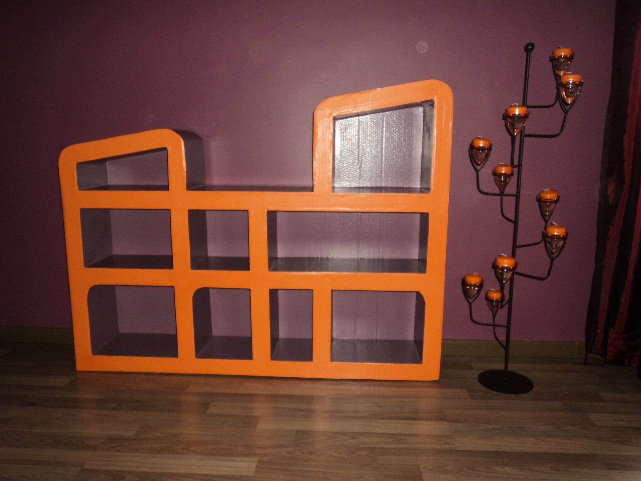 biblioth que en carton 6 photo de meubles en carton le show du carton. Black Bedroom Furniture Sets. Home Design Ideas